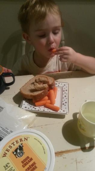 Boy#2's signature supper.