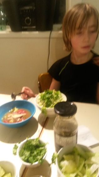 Boy#1 unsure about his spicy food