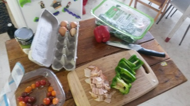 Prepping the ingredients