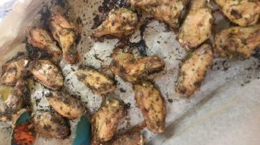 Chimichurri Chicken wings. SOOOOO GOOD!!!!