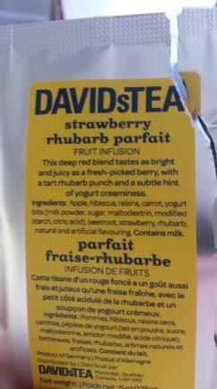 My friend Amanda gave mw this tea sample. It smells like heaven and tastes like dessert!