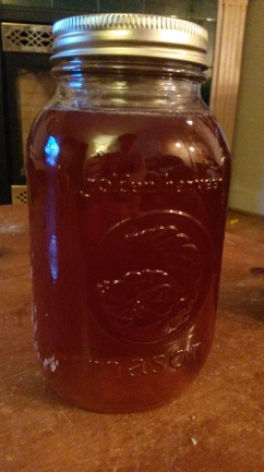My favourite honey that Bill sells in jars! Love. I have a bit of an obsession with mason jars.