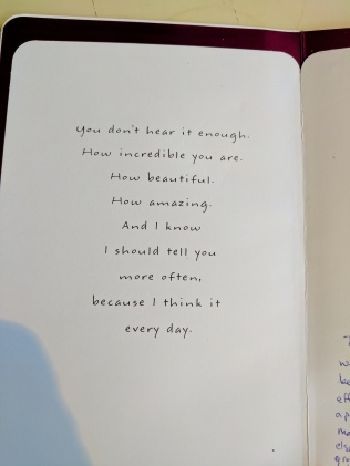 Hubs was not a card buyer when we marrieds. I think he has learned well! this card brought tears to my eyes.