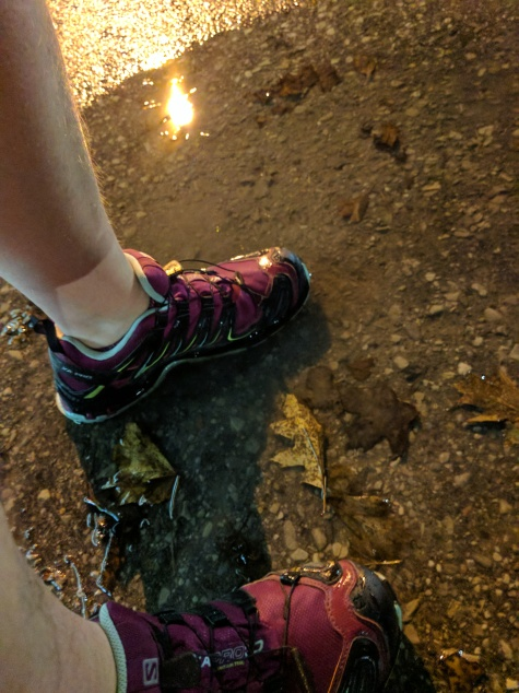 Puddles and street lights