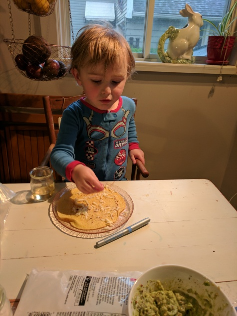 Boy #2 dinner