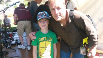 Last year's Celtic Festival,I made Linc take this picture with Sean from Great Big Sea