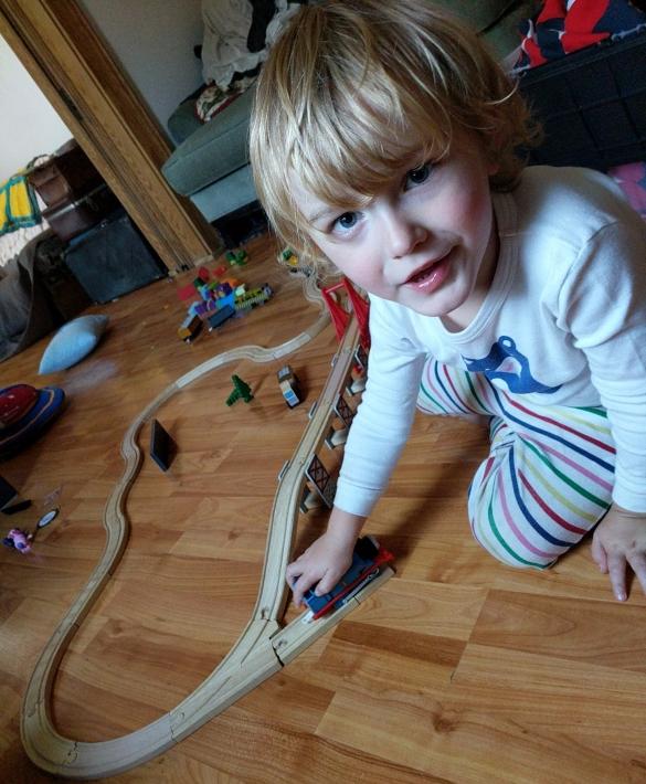 I play trains mum
