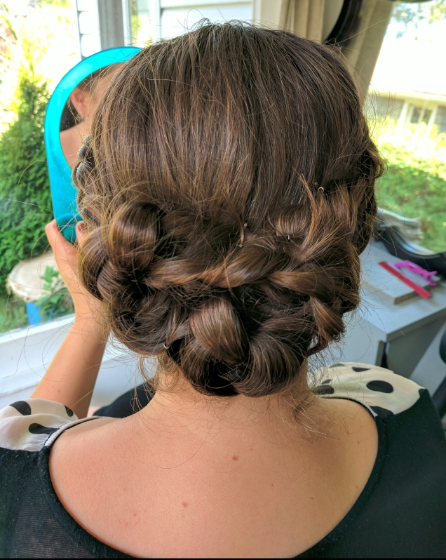 Beautiful bridal hair trial this afternoon