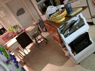 my kitchen, in the dark, waiting