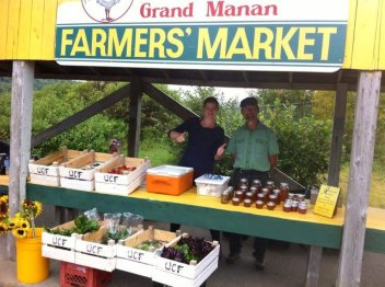 My Dear Kate and her lovely Dad selling his wares on Grand Manan